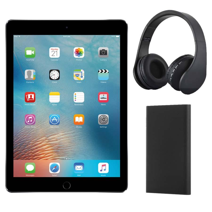 iPad Wi-Fi 128GB with Headphones and Power Bank - SPACE GREY
