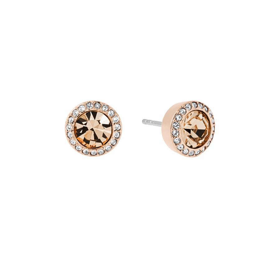 Brilliance Stud Earrings - ROSE GOLD