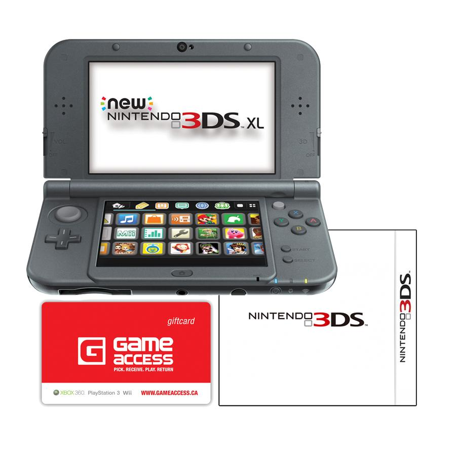 new 3ds xl console bundle with game and 6 month gameaccess. Black Bedroom Furniture Sets. Home Design Ideas
