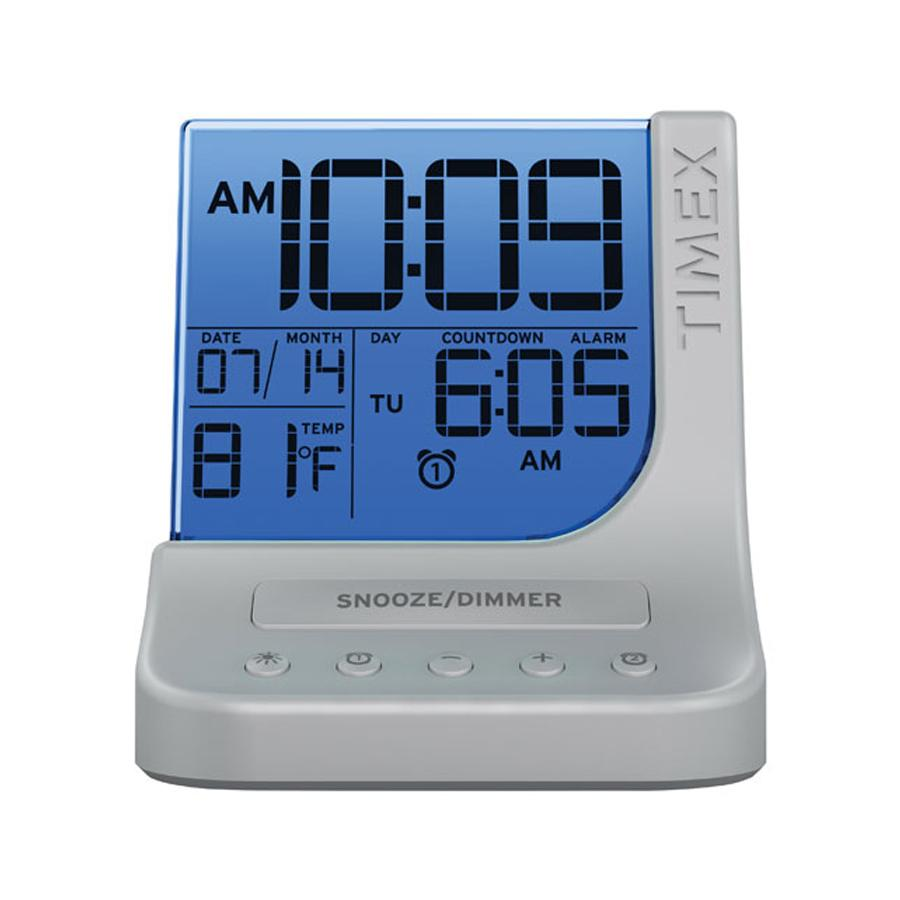 Color Changing Dual Alarm Clock with 1 Amp USB Port