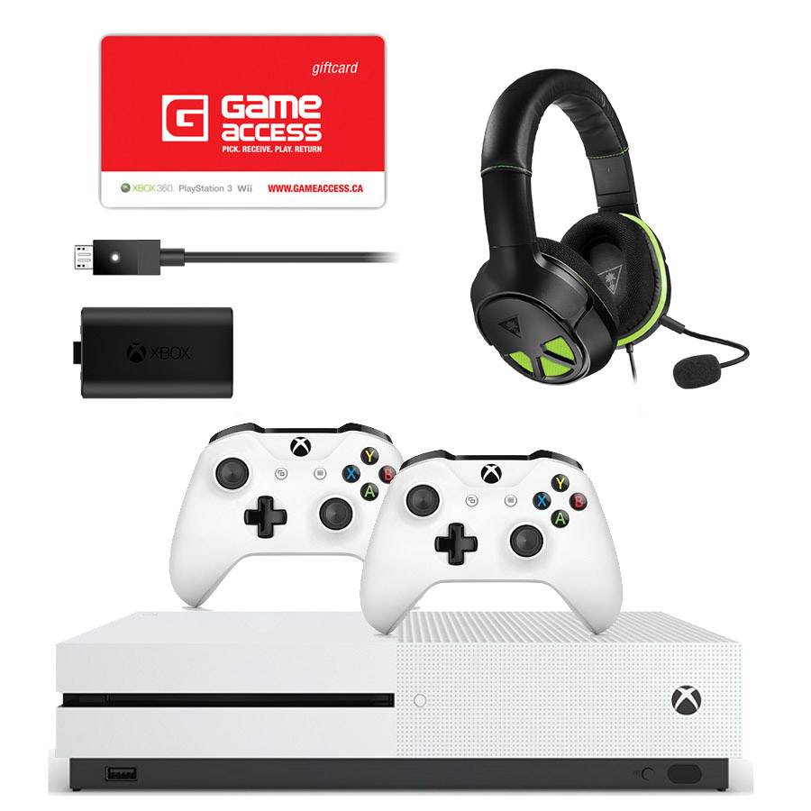 Xbox One S 500GB with Game, Accessories and Game Access Gift Card