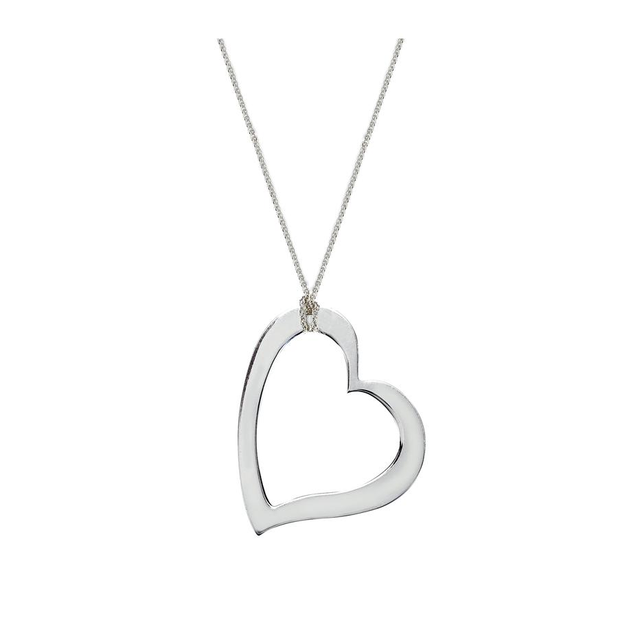 Chain with large open heart pendant in sterling silver birks chain with large open heart pendant in sterling silver aloadofball Gallery